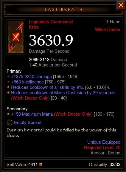 Diablo  Archon Build Cooldown Reduction