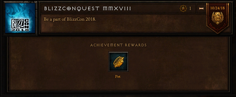 BlizzCon 2018 achievement